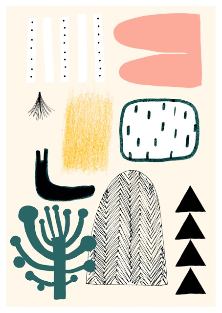Kanelimaa, mark making, design, pattern, abstract, colour