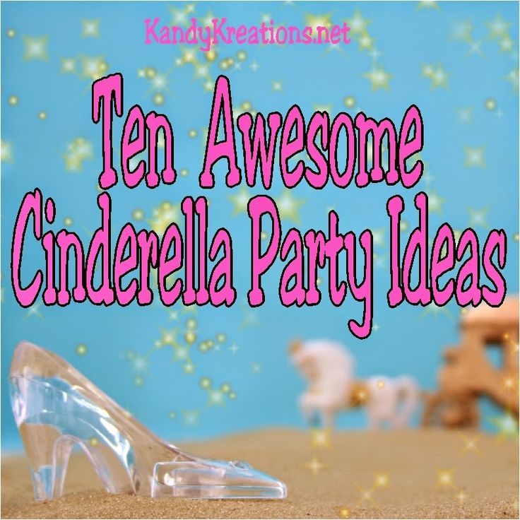 Throw a birthday party that's fit for royalty with these awesome ideas for a Cinderella party.  You'll find party decorations, party treats, party games and craft ideas, and everything else fit for a birthday princess!