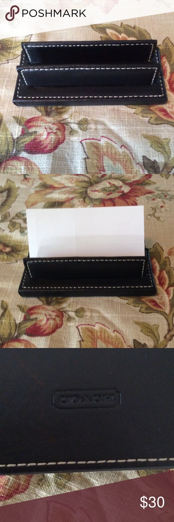 Coach Business Card Holder HTF!!! Coach Card Holder states class! This is new but I don't have the tags. I purchased in the 90's so you rarely see these. I welcome any questions. I ship the same or next business day! Coach Other
