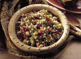 Tabbouleh with Garbanzo Beans | Recipe | Beans, Ea and Fes