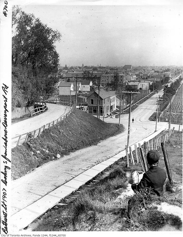 Bathurst looking south from Davenport, 1907