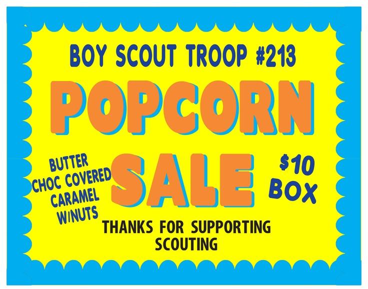 boy scouts popcorn sale fundraising
