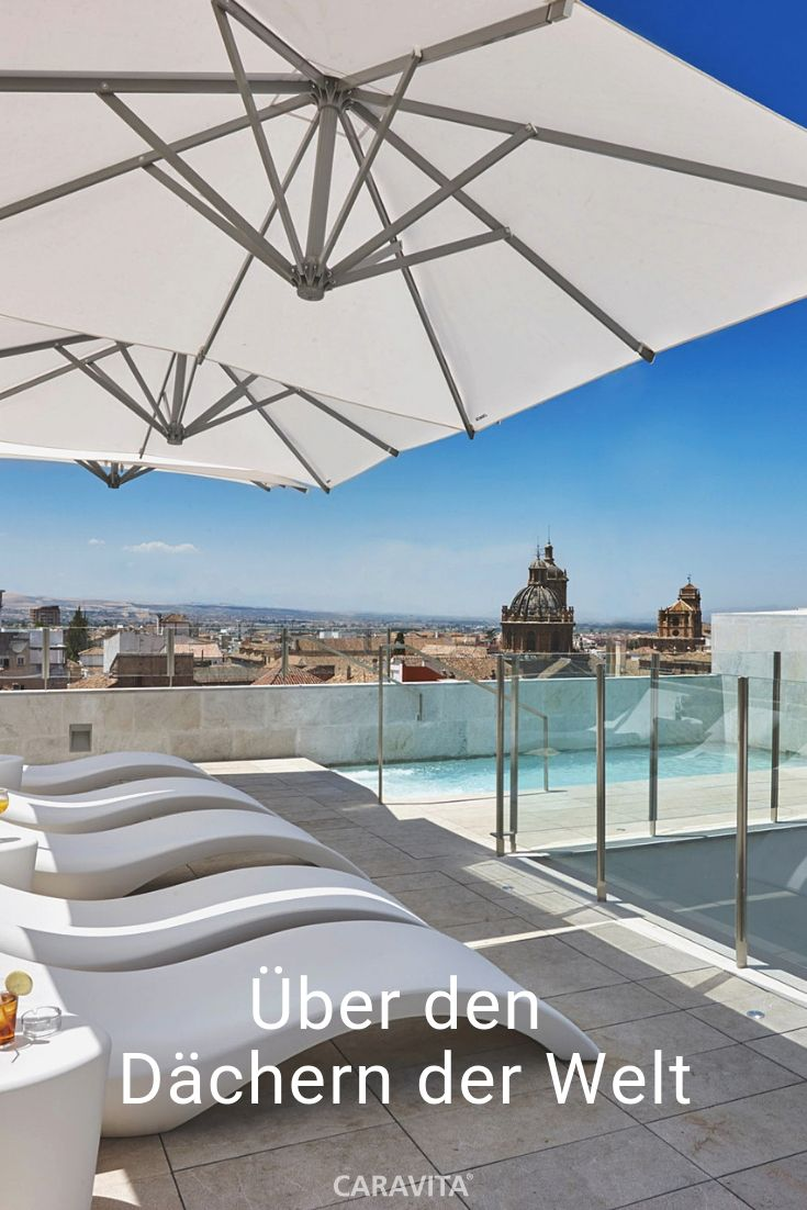 Der Sonnenschirm Amalfi Von Caravita Ist Uber Den Dachern Der Welt