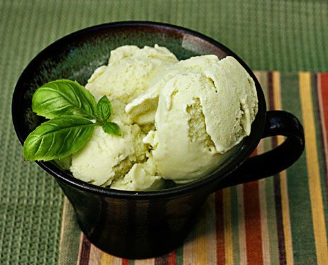 Basil Ice Cream. I officially need to buy an Ice Cream Maker so I can ...
