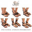 Caramel Leather Stitched Ribbon Sandals | Sseko Designs