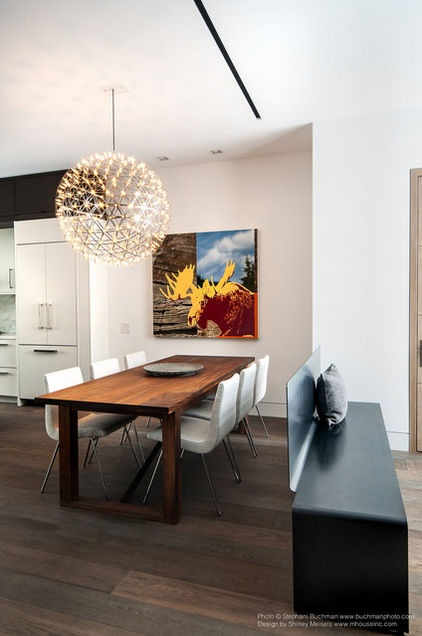 Colorful Iconic Furniture Enhances A Soothingly Neutral Palette In This Midtown Toronto Home For Businessman
