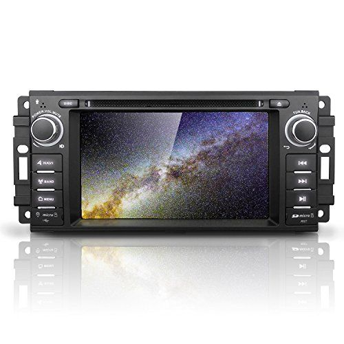 """Android 7 Car stereo CD DVD Player - Corehan In Dash Car Radio Multimedia Player Navigation System with 6.2"""" LCD Bluetooth Wifi GPS for Jeep Wrangler Dodge Chrysler. For product info go to:  https://www.caraccessoriesonlinemarket.com/android-7-car-stereo-cd-dvd-player-corehan-in-dash-car-radio-multimedia-player-navigation-system-with-6-2-lcd-bluetooth-wifi-gps-for-jeep-wrangler-dodge-chrysler/"""