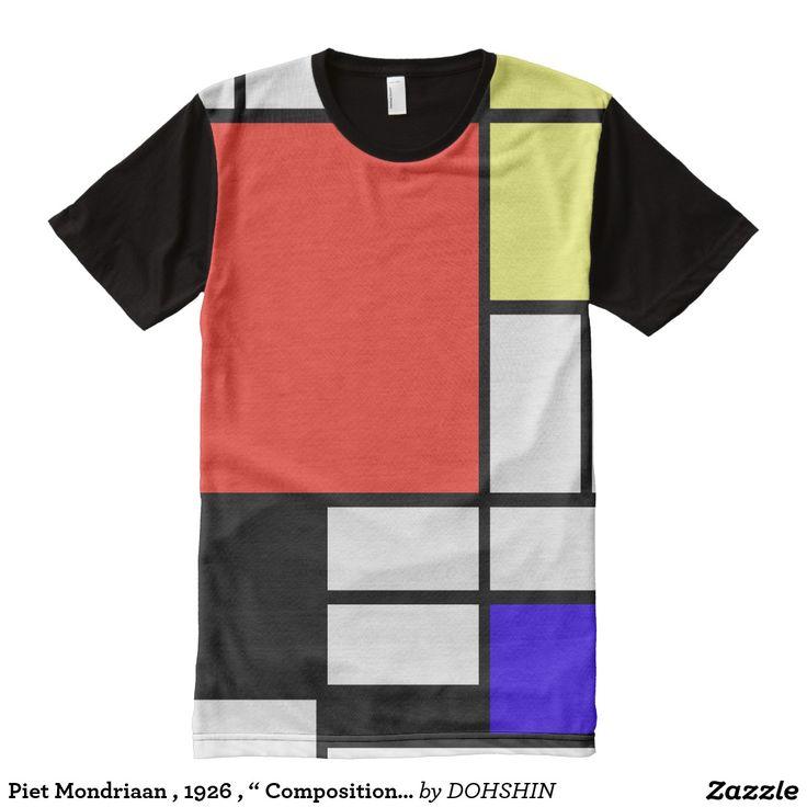 "Piet Mondriaan , 1926 , "" Composition "" オールオーバープリントT シャツ"