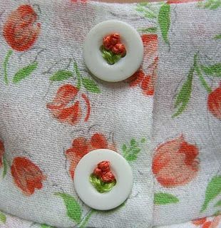 Embroidery on a button.  Love it!