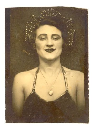 1920's Photo Booth Photo of a Circus Performer...