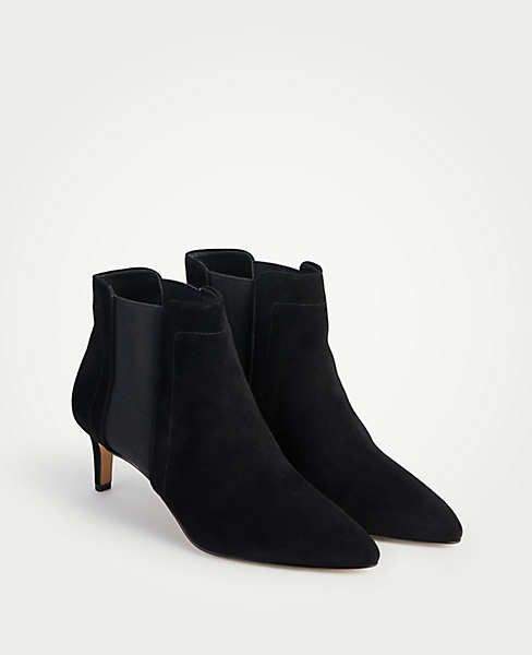 bce18205285a0 Olena Suede Kitten Heel Booties | Ann Taylor | for the wish list in ...
