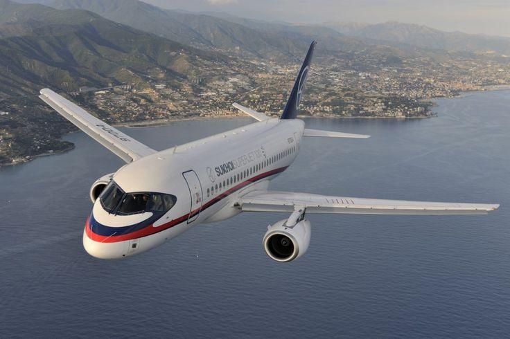 O Sukhoi Superjet pode carregar até 100 passageiros (Foto - Sukhoi)