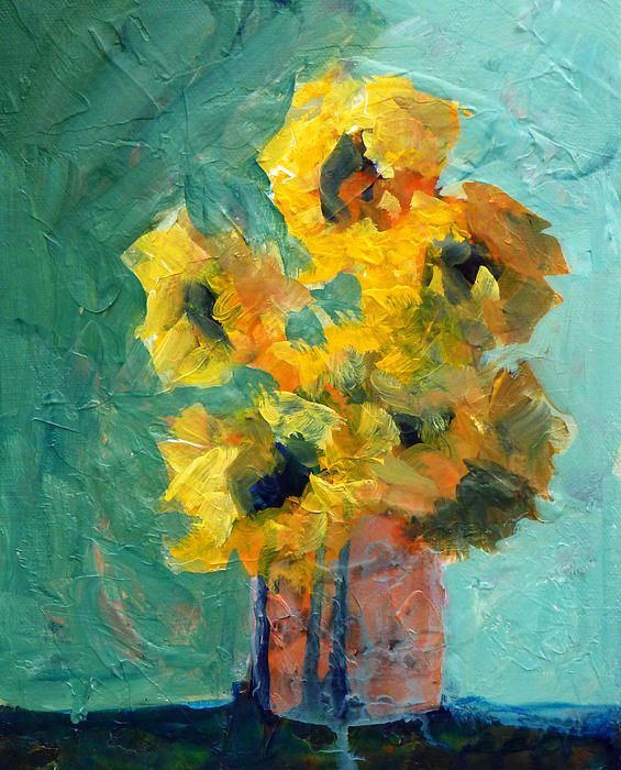 Sun and Shadow, Abstract Floral Painting; Posters, Prints, and Fine Art Reproductions for Sale