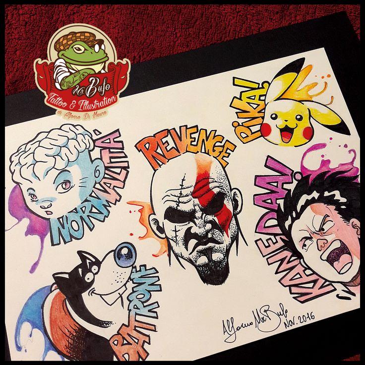 Flash Nerd Tattoo collection!   #tattoomadeinitaly #tattoos #misterbufotattoo #tattoo #comicstattoo #sketchtattoo #sketch_daily #sketchbook #brianthebrain #kratostattoo #godofwar #gamingtattoo #ronfi #ronf #tetsuo #akira #kaneda #otomo #anime #otaku #pikapika #pikachu #pokemontattoo #poketattoo #italiancomics #spartan @gamer.ink