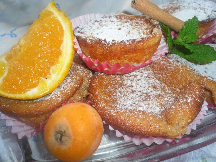 Queijadinhas de nêsperas, laranja, iogurte e canela-Receita Bimby e tradicional