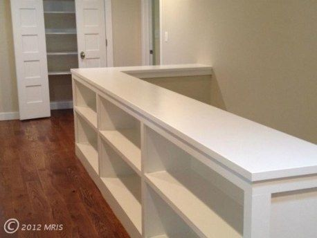 Built ins...this would be great at the top of the attic stairs