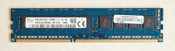 Hynix 2Rx8 8GB PC3-12800E DDR3-1600 240-Pin ECC Unbuffered Memory RAM