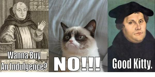 Good Lutheran kitty. #lutheran #humor