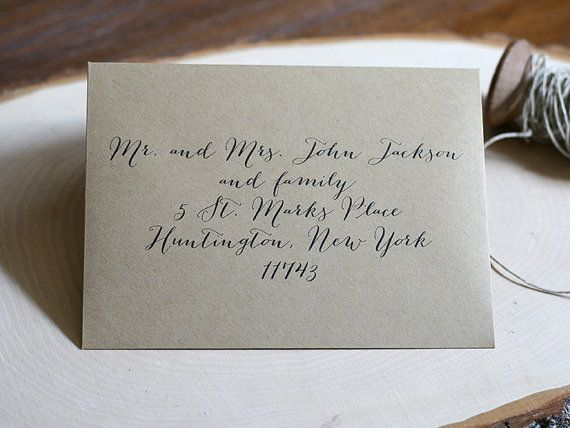 Envelope Printing Guest Address Return address by deaandbean