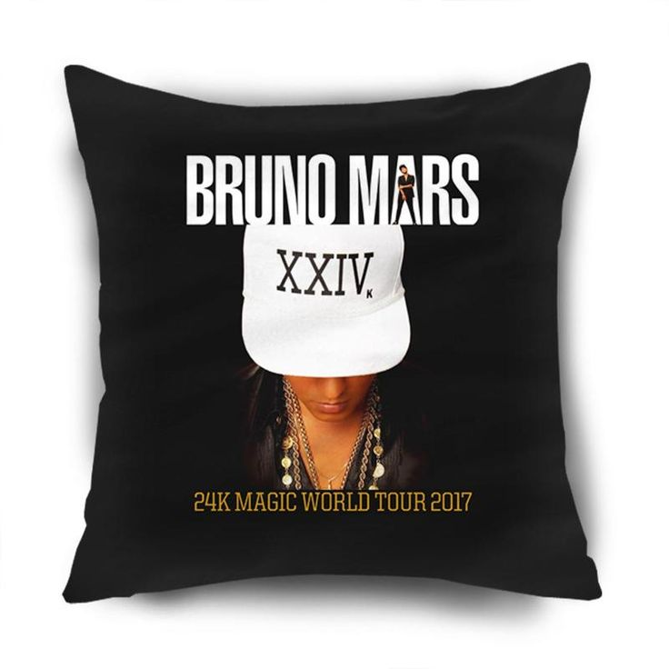 BRUNO MARS US TOUR DATES CONCERT 2017 CUSHION PILLOW CASE   #pillow,#body,#case,#custom,#new