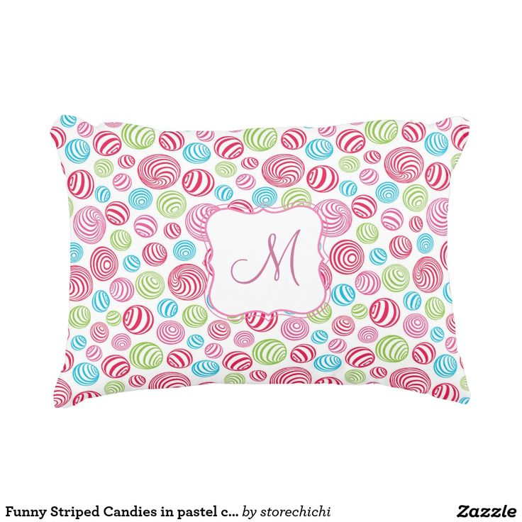 Funny Striped Candies in pastel colors monogram