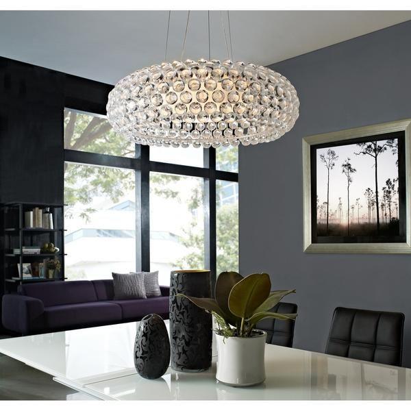 halo acrylic crystal chandelier 25 inch