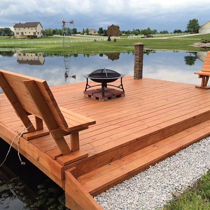 Custom Cedar Dock. Deck BenchesDeck PatioDeck FurnitureBoat ...