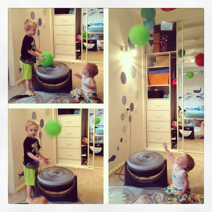 Floating balloon fun