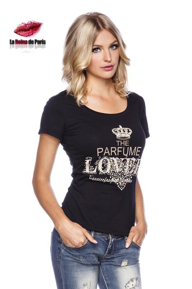 Camiseta con mensaje Julieta negra