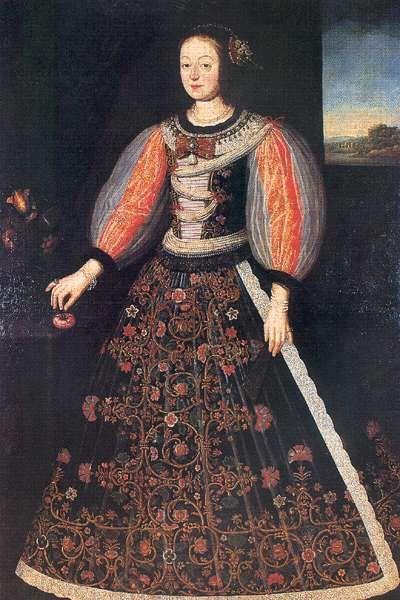 Julianna Esterházy, wife of Ferenc Nádasdy 1656.