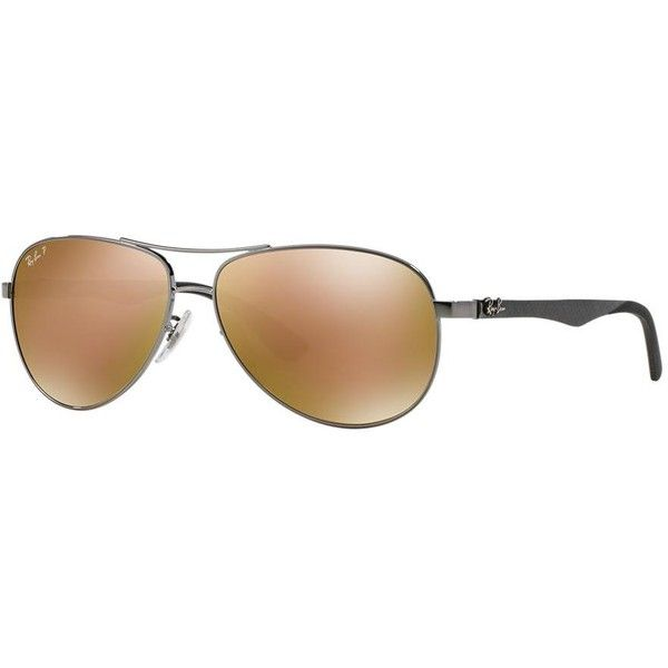 ray ban mens rb8305 carbon fibre sunglasses  ray ban 61 carbon fibre gunmetal aviator sunglasses rb8313 ($250) ? liked