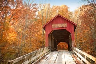This 40-mile drive takes you through some of the prettiest towns and scenery in Indiana.
