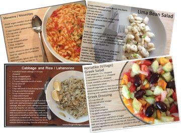 The Greek Vegan Recipe Cards