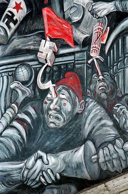 Orozco, Jose Clemente (1883-1949) - Carnival of the Ideologies (mural) | by RasMarley; expresa de manera directa la ideología nazi.