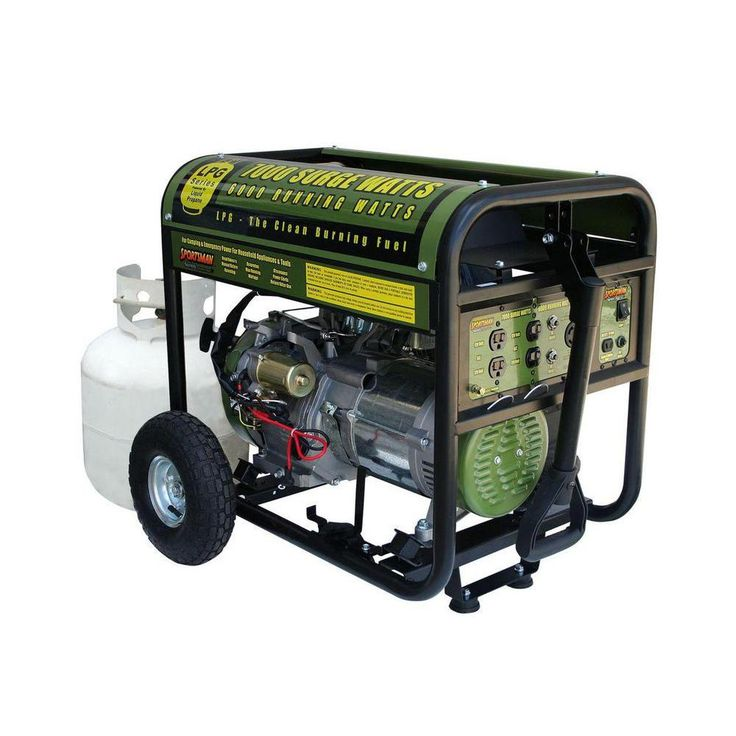 7,000-Watt Clean Burning LPG Propane Gas Powered Electric Start Portable Generator