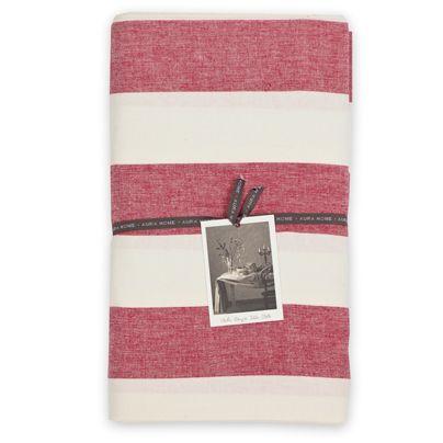 135x180cm Wide Stripe Table Cloth Chilli