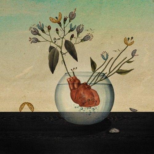 Brotes de corazón para madera, idea carta de tarot