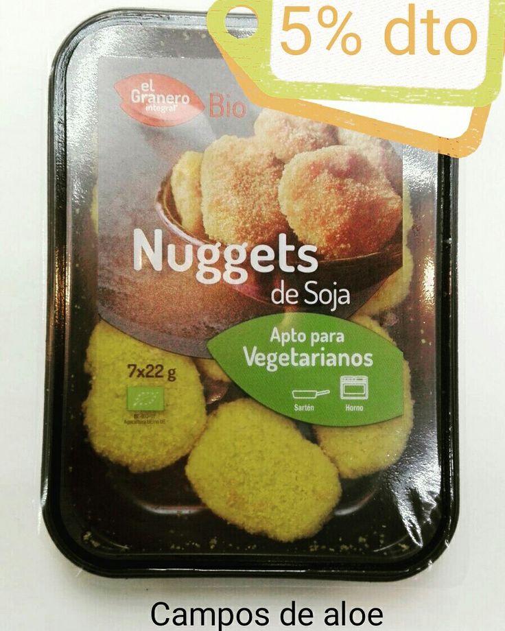 Nuggets de soja con un 5% de descuento por novedad www.camposdealoe.es