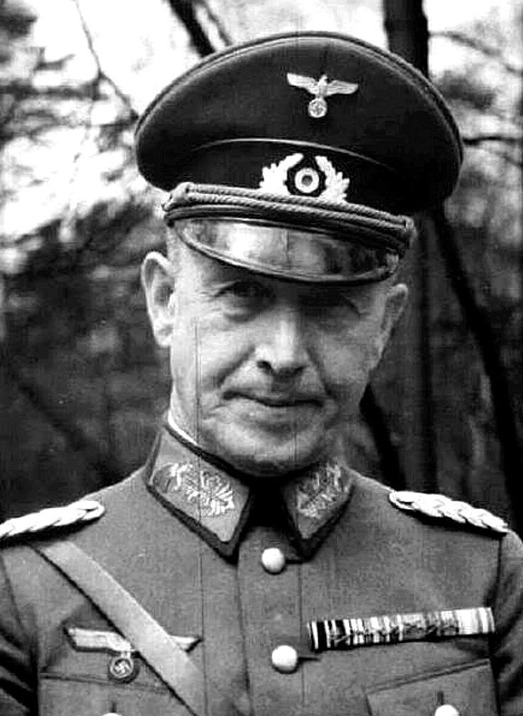 General der Infanterie Walther SCHROTH (3 June 1882 – 6 October 1944) died in an auto accident on 6 October 1944 in Wiesbaden. Knight's Cross of the Iron Cross on 9 July 1941 as General der Infanterie and commander of XII. Armeekorps
