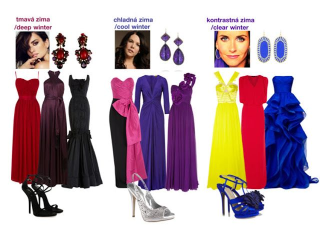 Evening Dresses For Winters Deep Cool Clear