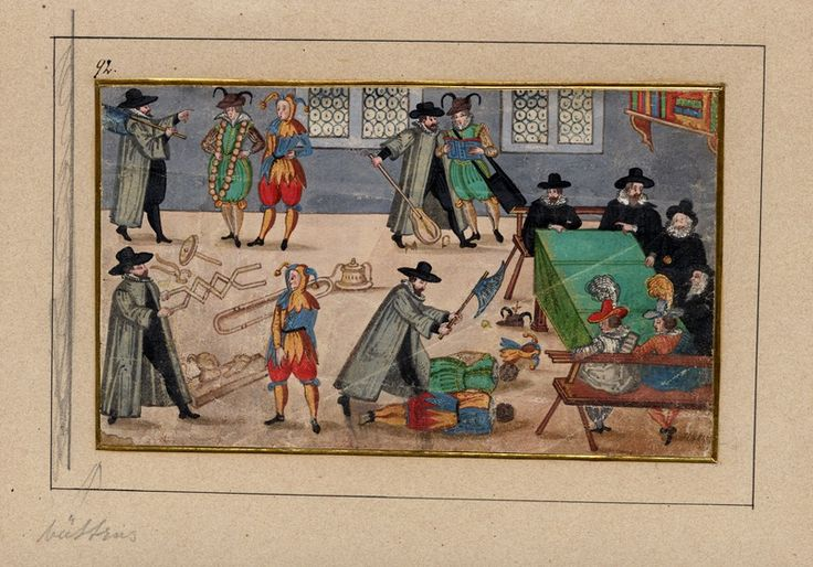 Student initiation, gouache painting from the latter half of the 17th century, [UPPSALA UNIVERSITY LIBRARY, BILD:3062]