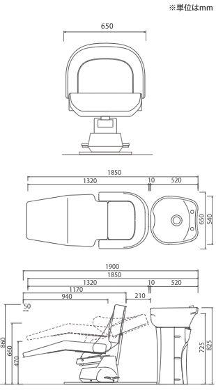 リラクゼーションシャンプーユニットRUBINO【BASIC】(日本製サーモ付)[BEAUTY GARAGE(ビューティガレージ,ビューティーガレージ)] - 理美容器具/理美容用品の卸・通販はBEAUTY GARAGE(ビューティガレージ)