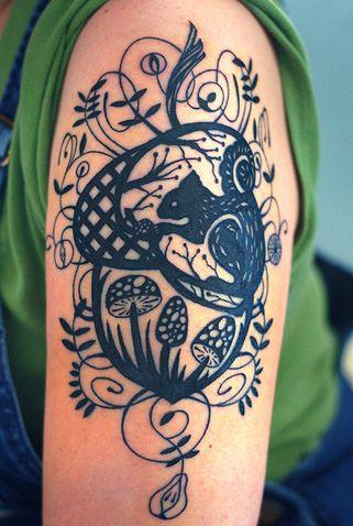 pretty: Patterns Tattoo, Tattoo Patterns, Tattoo Design, A Tattoo, Pretty Tattoo, Acorn Tattoo, Squirrels Tattoo, Design Tattoo, Woodland Tattoo