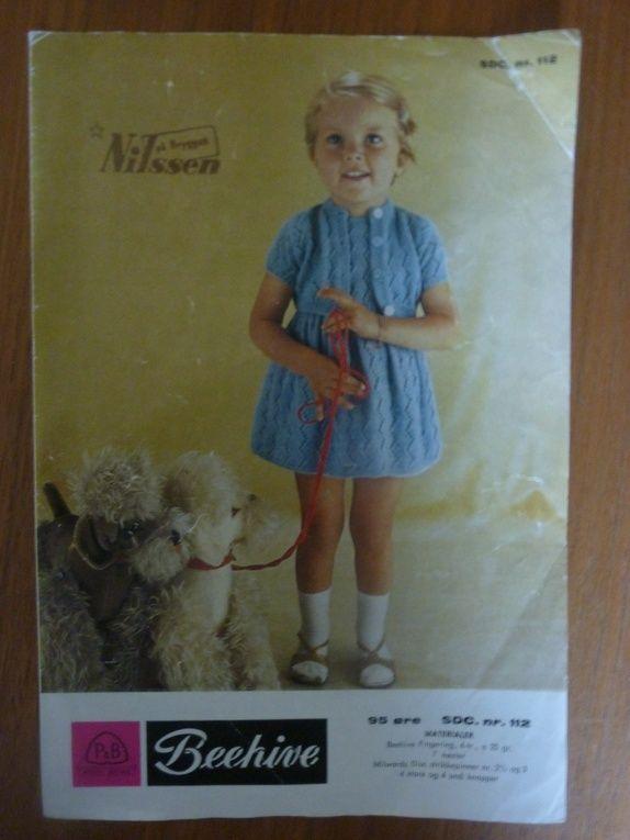 Retro/vintage strikkeoppskrifter til pike
