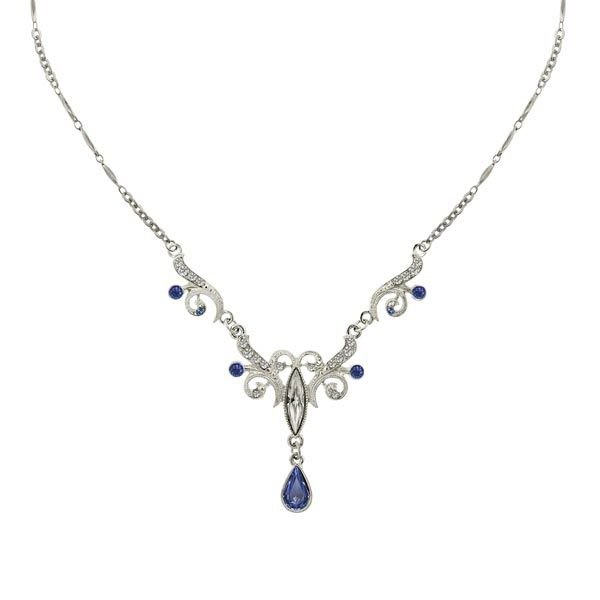 1920s Wedding jewelry necklace with sapphire (I would wear this every day!)  #wedding #jewelry