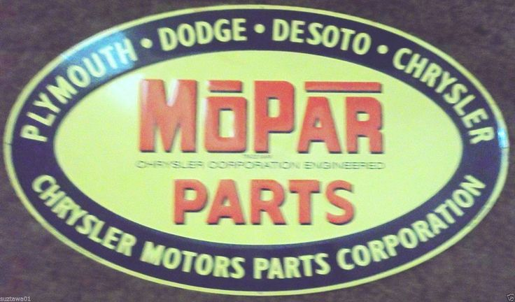 Mopar Parts Sign Advertising Embossed Plymouth Dodge Chrysler Hemi Parts Sign #MoparChryslerPlymouthDodgeDeSoto