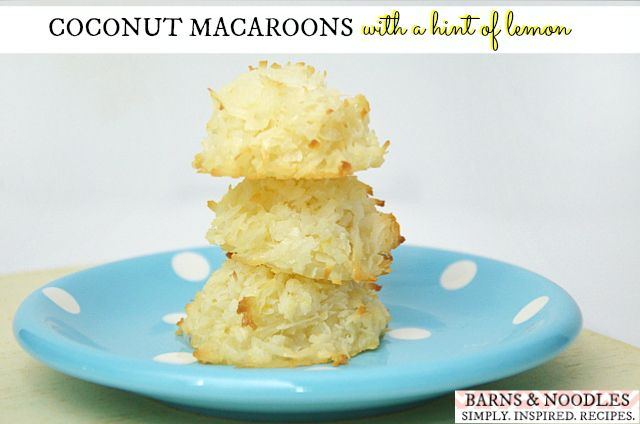 Coconut Macaroons – hint of lemon