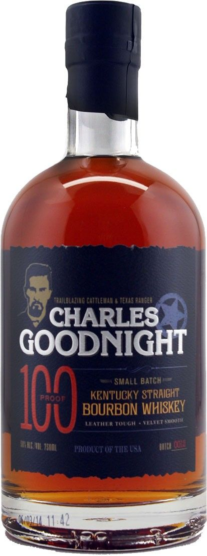 Charles Goodnight Kentucky Straight #Bourbon #Whiskey is aged for roughly six years and bottled at a robust 100 proof. | @Caskers