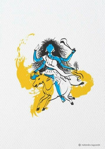 Kaalratri 7th Swaroop of Durga Out of 9 Swaroop Artist Mahendra Nagvanshi
