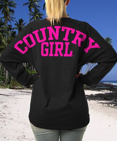 Look what I found on #zulily! Black 'Country Girl' Long-Sleeve Tee #zulilyfinds